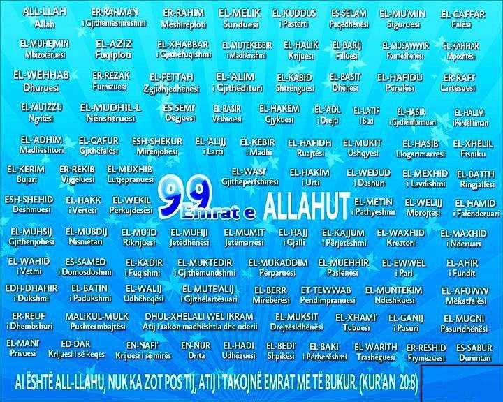 99 Emrat E Allahut Shqip http://mjeksiaislame.com/99-emrat-e-allahut/