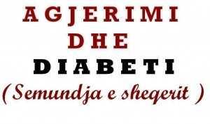 agjerimi dhe diabeti