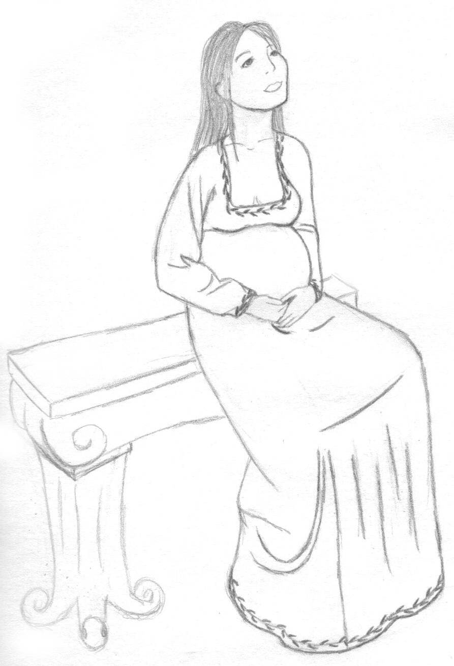 Pregnant_Woman_on_a_Bench_by_Megami_of_Nekro