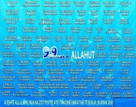 Allahu i ka nëntëdhjetë e nëntë emra, njëqind pa një…