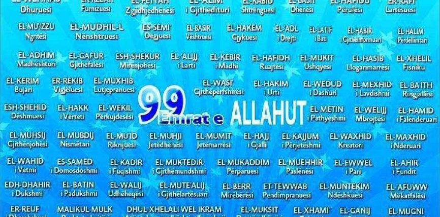 99 emrat e All-llahut – Përshkrim i shkurtër shqip-arabisht
