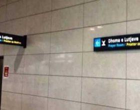 Aeroporti Ademi Jashari: Përgatiti dhomën për faljen e namazit
