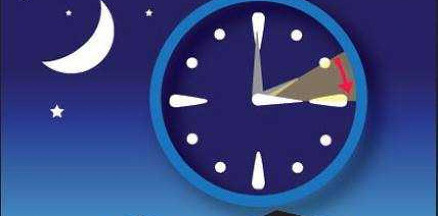 Nga e diela, akrepat e ores shkojne 60 minuta perpara.