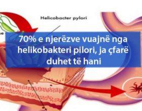 70% e njerëzve vuajnë nga helikobakteri pilori, ja çfarë duhet të hani