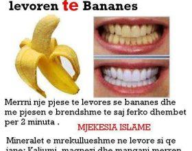 Zbardho dhembet me levore te bananes ! (Foto porosi)