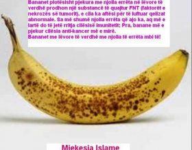 Bananet me njolla te erreta dhe kanceri !?