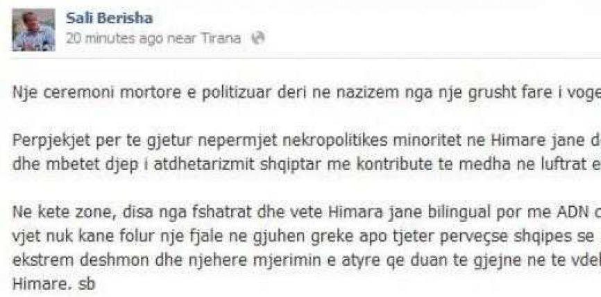 Reagon Berisha: Himara, djep i atdhetarizmit shqiptar