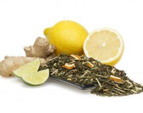 Çaj i gjelbërt me xhenxhifil për hollim dhe dobitë tjera