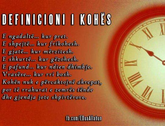 Definicioni i kohës