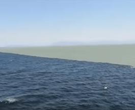 Mahnitëse! E thënë dhe në Kur'an: kufiri midis dy oqeaneve me ujra të papërziera (video)