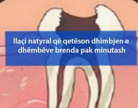 Ilaçi natyral që qetëson dhimbjen e dhëmbëve brenda pak minutash