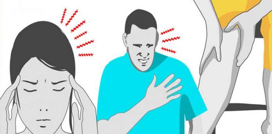 Çfarë paralajmërojnë dhimbja në kraharor, gjaku në urinë dhe mpirja e këmbëve?