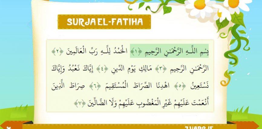 SURJA EL-FATIHA (Shqip/Latinisht)