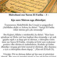 Cdo dite lexoj vetes suren el Fatiha me nijet sherimi dhe dobia do jete jashtzakonisht e madhe