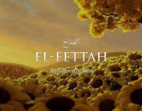 Një nga emrat e Zotit është : El-Fettah [Ai që u jep zgjidhje të gjitha halleve]