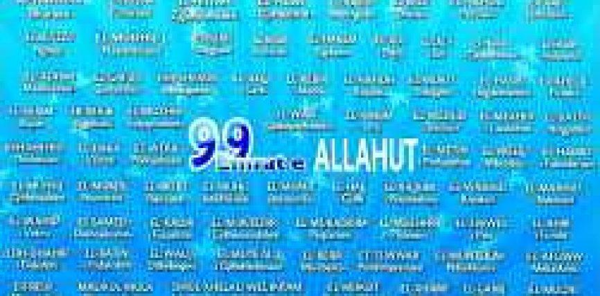 Esh Shafi (Shëruesi),El Muxhib (Lutjepranuesi),El Mu'min (Siguruesi)El Muhejmin (Mbizotëruesi)El Mexhid (I Nderuari),El Mutekebir (I Madhërishmi)