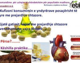 Rekomandime për ushqim të shëndetshëm për popullatën madhore