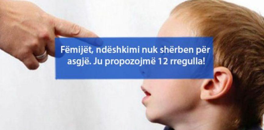 Fëmijët, ndëshkimi nuk shërben për asgjë. Ju propozojmë 12 rregulla!