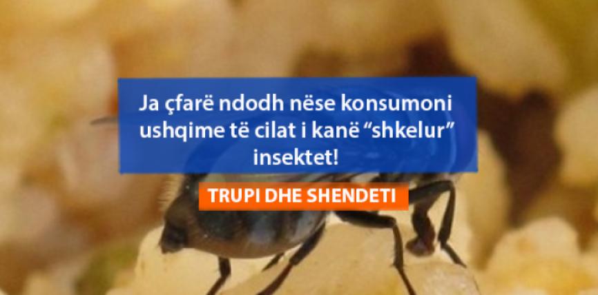 """Ja çfarë ndodh nëse konsumoni ushqime të cilat i kanë """"shkelur"""" insektet!"""