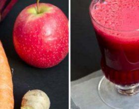 Çfarë ndodh kur përzieni panxharin, karrotat dhe mollët. Ky lëng ndihmon në shumë sëmundje