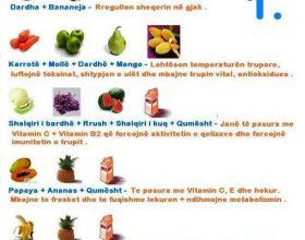 Keshilla mjekesore rreth kombinimit te pemeve dhe perimeve