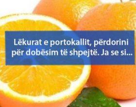 Lëkurat e portokallit, përdorini për dobësim të shpejtë. Ja se si…