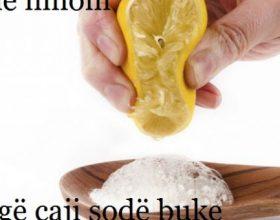 15 mënyra të thjeshta si të përdorni në të përditshmen tuaj gjysmë limoni dhe një lugë sodë buke