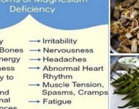 Ushqimet qe rrisin magnezin, parandalojne presionin e larte te gjakut, mpiksjen e gjakut dhe lodhjen e muskujve!