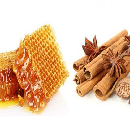 Humbja e peshës dhe mjalti me kanellë
