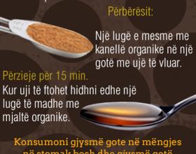 Mjaltë dhe kanellë për rënie në peshë dhe detoksikim !??