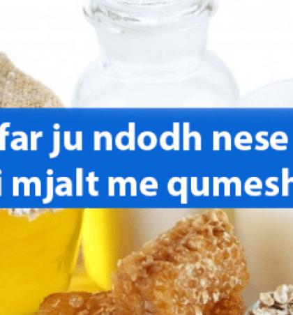 Cfarë ju ndodh nëse pini mjalt me qumësht