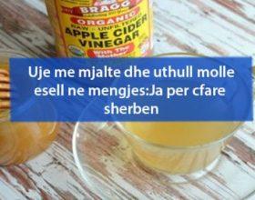 Uje me mjalte dhe uthull molle esell ne mengjes:Ja per cfare sherben
