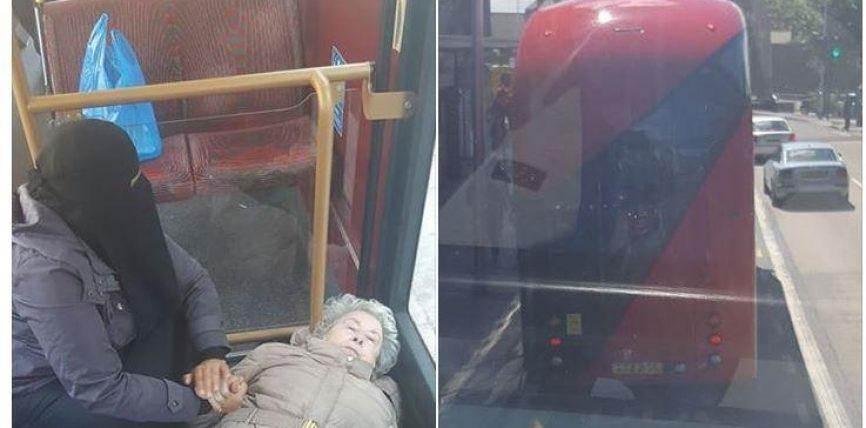 Ky është Islami i vërtetë: gruaja muslimane, e vetmja që i jep ndihmë një të moshuare në autobus