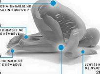 Kontakti i shtatë pjesë të trupit më tokën liron energji nga trupi