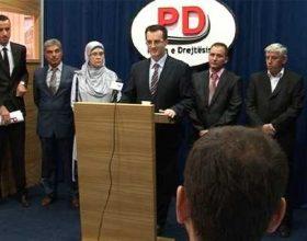 Kandidatja me shami,garon për PD-në në Gjilan