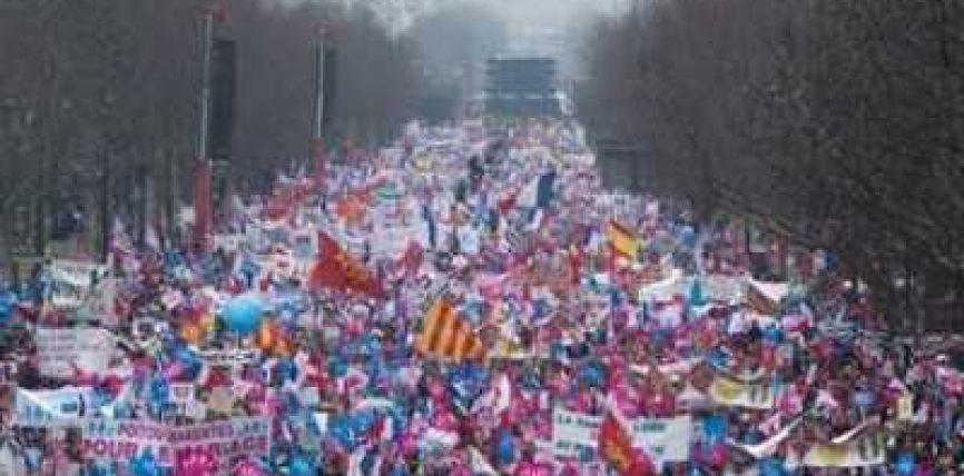 Francë – Mbi një milion persona në protestën kundër martesave të homoseksualëve