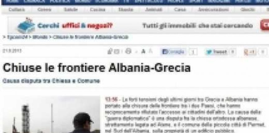 """Shqipëri-Greqi, """"luftë diplomatike"""""""