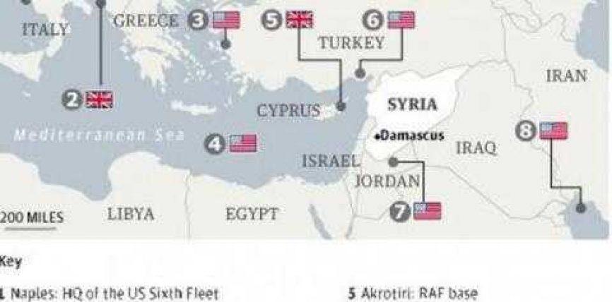 Shqipëria, pjesë e hartës së sulmit mbi Sirinë