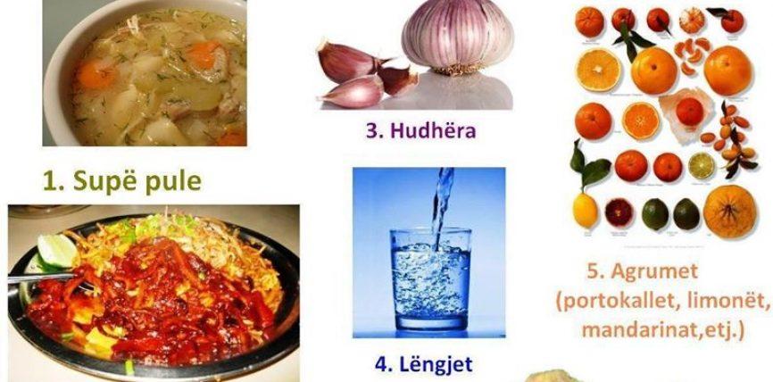 7 Ushqimet për të luftuar të ftohtin e rëndomtë