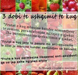3 dobi të ushqimit të kuq…