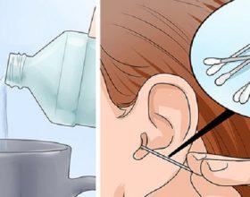 Përbërja efektive për pastrimin e veshëve të fëmijeve nga dylli dhe infeksioni vetëm me dy përbërës